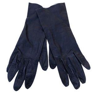 Caresskin by Superb Black Leather Gloves Size 7